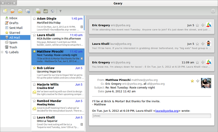 Geary – A Modern Email Client for Linux