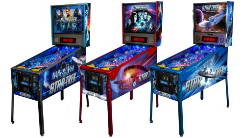 A sampling of the Stern Pinball Star Trek offerings.